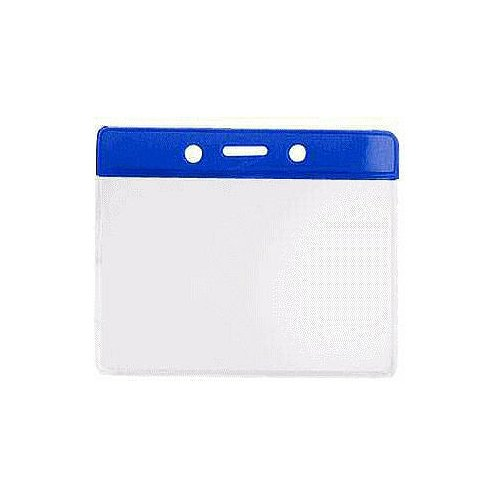 4 x 3 Horizontal Royal Blue Colored Badge Holder