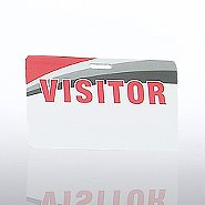 Re-Writable PVC Cards - Visitor - Horizontal