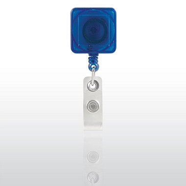 Badge Reel - Square - Translucent Blue