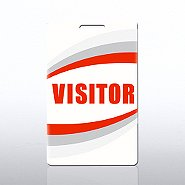 PVC Plastic Card - Preprinted - Visitor - Red
