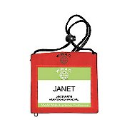 Event Wallet Badge Holder - Red