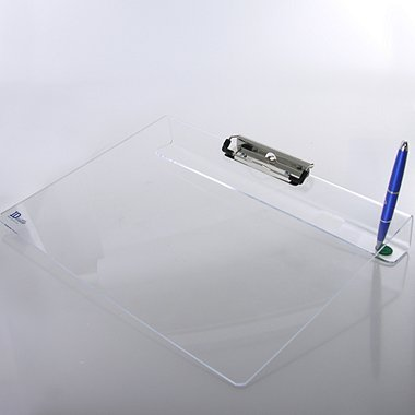 Visitor - Log In Clipboard - Clear Acrylic