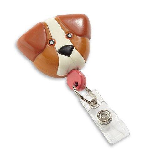 Brown Dog Pedia Pals Badge Reel