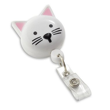 Pedia Pals Badge Reel - White Cat