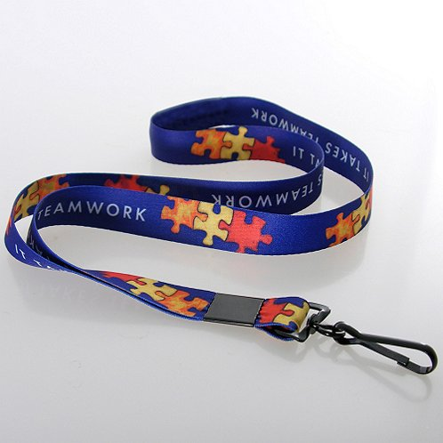 It Takes Teamwork Themed Lanyard