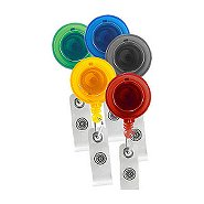 Badge Reel - Translucent Round Variety Pack