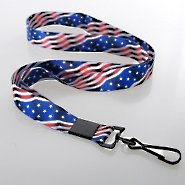 Premium Themed Lanyard - Flag