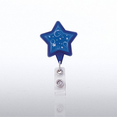 Themed Badge Reel - Star - Blue Stars