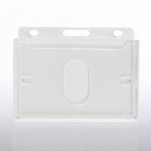 Horizontal Hard Card Badge Holder