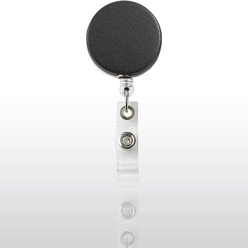Matte Black/Chrome Heavy Duty Metal Badge Reel