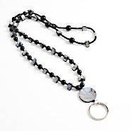 Beaded Lanyard - Black