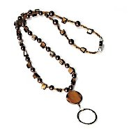 Beaded Lanyard - Brown