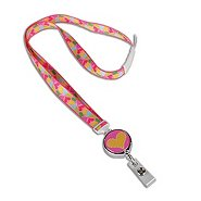 Fashion Badge Reel / Lanyard Combo - Fun Hearts