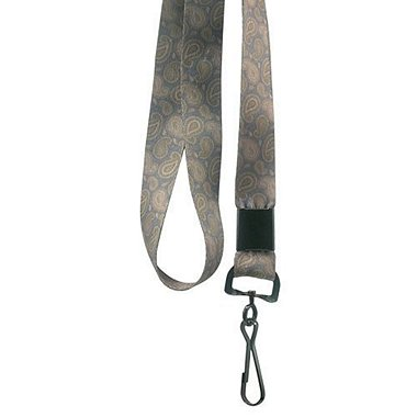 Designer Lanyards - Brown Paisley