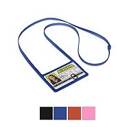 Silicone Lanyard Horizontal Badge Holder Combo