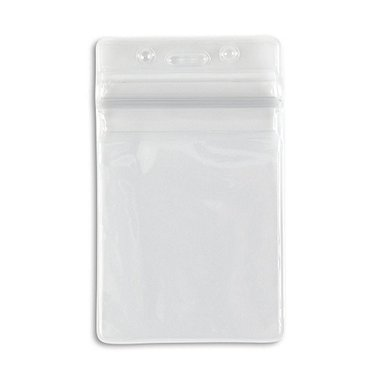 Sealable ID Holders - Vertical - Clear