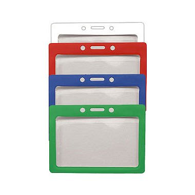 Colored Frame Badge Holders - Horizontal - Credit Card