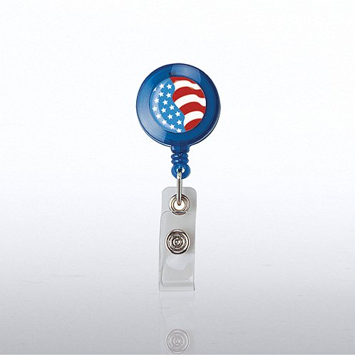 Stars-n-Stripes Themed Badge Reel
