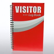 Mini System - Visitor Sign-In Log Book - Red