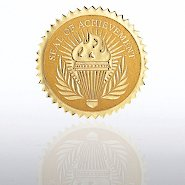 Certificate Seal - Seal Of Achievement Torch