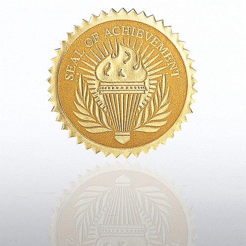 Seal Of Achievement Torch Certificate Seal