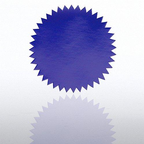 Blank Blue Certificate Seal