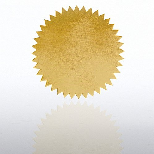 Blank Gold Certificate Seal