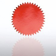 Blank Certificate Seal - Red
