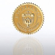 Certificate Seal - Excellence Shield - Gold