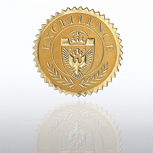 Excellence Shield Gold Certificate Seal