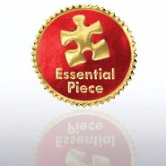 Certificate Seal - Essential Piece - Red/Gold