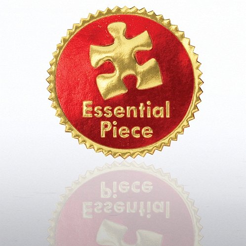 Essential Piece Red/Gold Certificate Seal