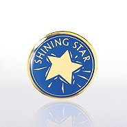 Lapel Pin - Shining Star - Blue/Gold