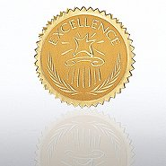 Certificate Seal - Excellence - Star Pedestal