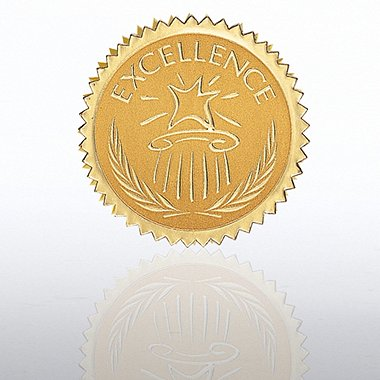 Certificate Seal - Excellence - Star Pedestal