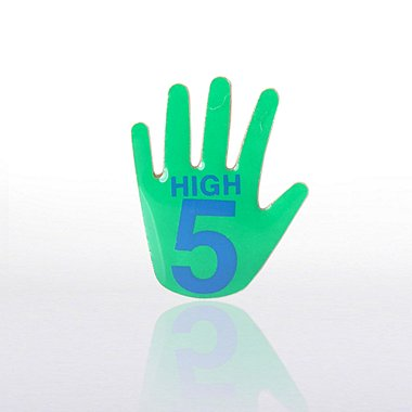 Lapel Pin - High 5 - Multi-Color