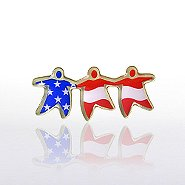 Lapel Pin - TEAM Flag - Multi-Color