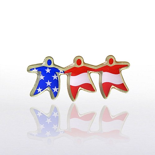 TEAM Flag - Multi-Color Lapel Pin