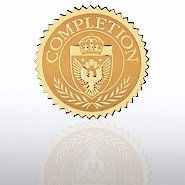 Certificate Seal - Completion Shield
