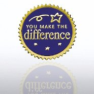 Certificate Seal - You Make the Difference - Blue/Gold
