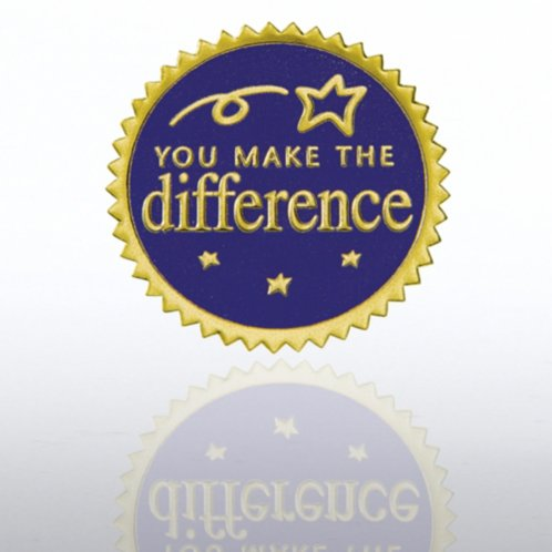 You Make The Difference Blue Gold Certificate Seal At