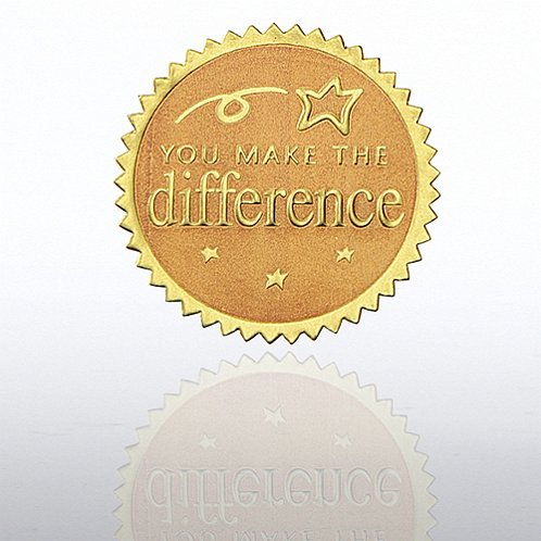 You Make the Difference Gold Certificate Seal
