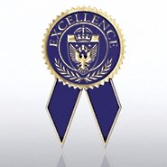 Certificate Seal with Ribbon - Excellence - Blue/Gold