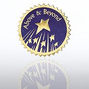 Certificate Seal - Above & Beyond Stars - Blue/Gold