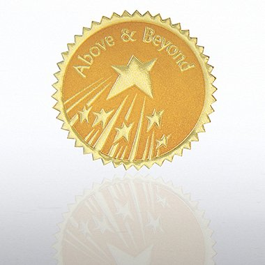 Certificate Seal - Above & Beyond Stars - Gold