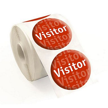 Stickers - Visitor - Red