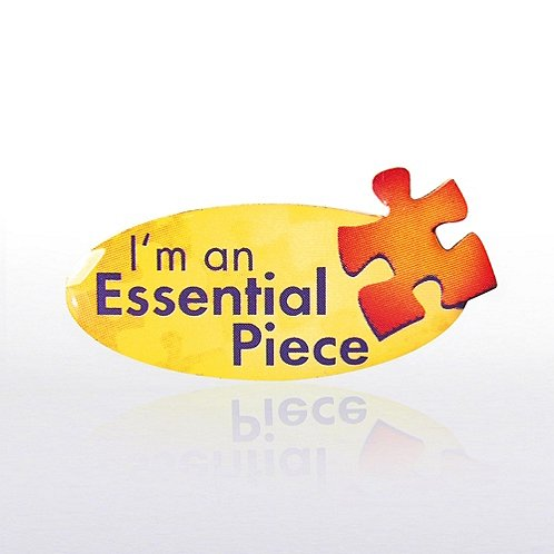 I Am An Essential Piece - Multi Color Lapel Pin