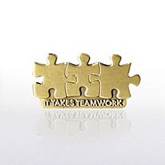 Lapel Pin - It Takes Teamwork - Die Struck