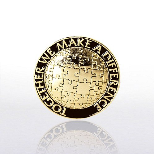 Together We Make A Difference Lapel Pin