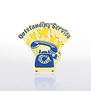 Lapel Pin - Outstanding Service Phone - Multi Color